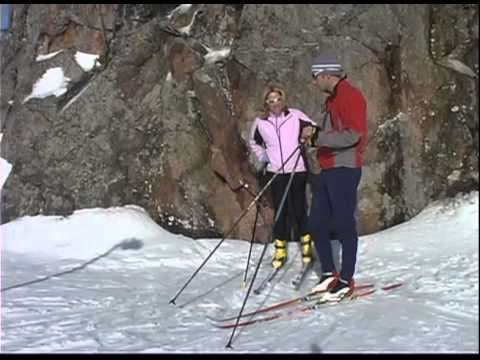 A beginner lesson from learn to nordic ski