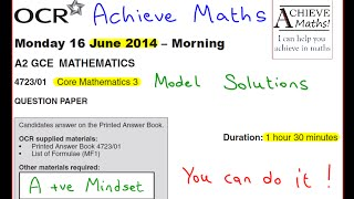 A-level Maths OCR June 2013 Core Mathematics 3 C3 (complete paper)