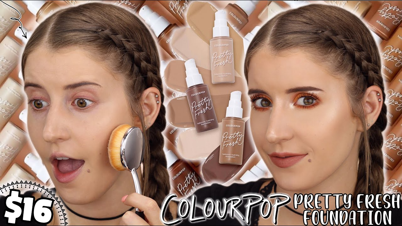 *NEW* COLOURPOP PRETTY FRESH FOUNDATION 😱 REVIEW + GIVEAWAY! 🎉
