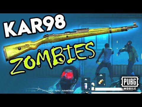 SLAYING ZOMBIES with KAR98K - PUBG Mobile
