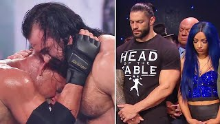 5 Saddest WWE Moments 2021 Roman Reigns Sasha Banks Drew McIntyre Goldberg