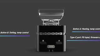 SainSmart MINIWARE MHP30 Mini Placa Calefactora de Soldadura Estaci/ón de Precalentamiento Precalentador Modos Multi Inteligentes con Pantalla OLED Incorporada 60W 30X30mm