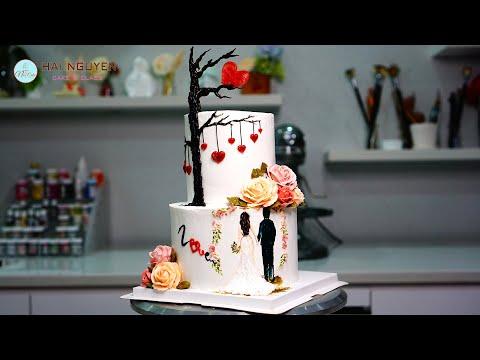 Bánh cưới cho lễ tình nhân valentine | Ý tưởng làm bánh cưới cho ngày lễ tình yêu độc đáo | Foci