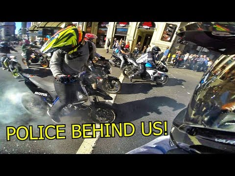 LONDON RIDEOUT GETS WILD!! *POLICE*