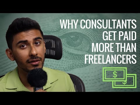 Why consultants get paid more than freelancers