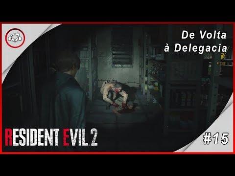 Resident Evil 2 Remake, De Volta à Delegacia. - Gameplay #15 PT-BR
