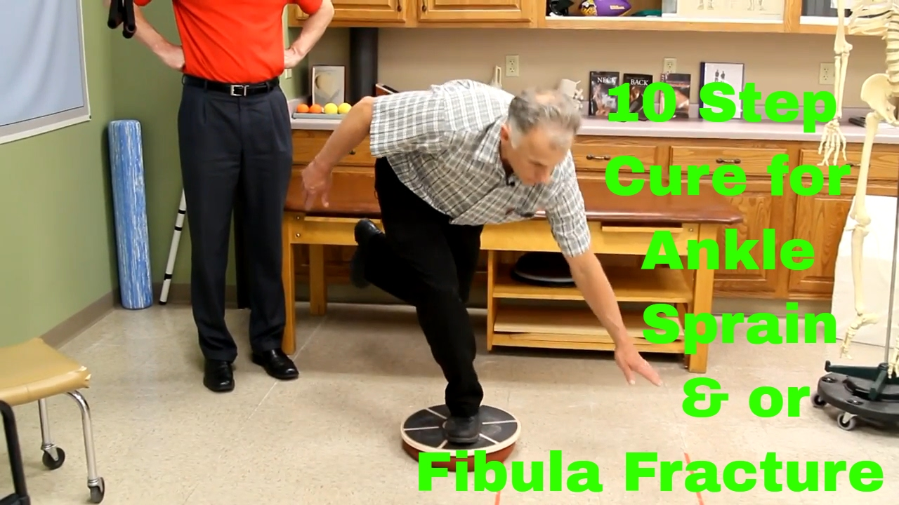 10 Step Cure for Ankle Sprain & or Fibula Fracture  Exercises & Rehab