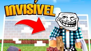 Minecraft: PAREDE INVISÍVEL !! - (Minecraft Troll)