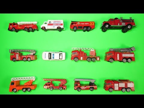 Best Fire Trucks, Fire Engines for Kids  1 Hot Wheels, Matchbox, Tomica トミカ Toy Cars