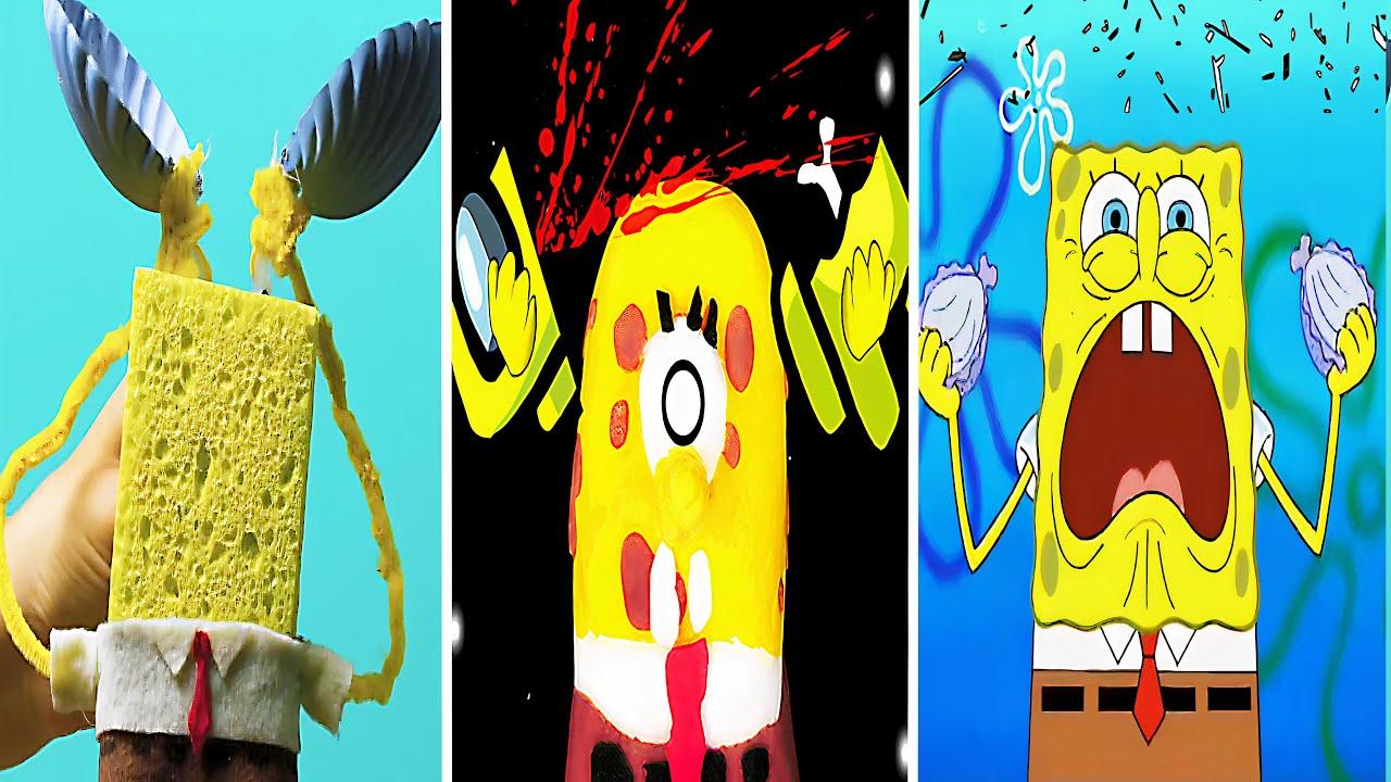 Spongebob Music Video Vs Among Us Funny Animation