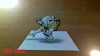 Shaolin Monk - 3D Drawing