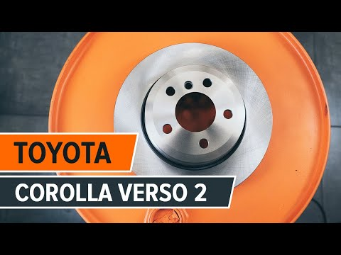 How to change a rear brake discs on TOYOTA COROLLA VERSO 2 ...