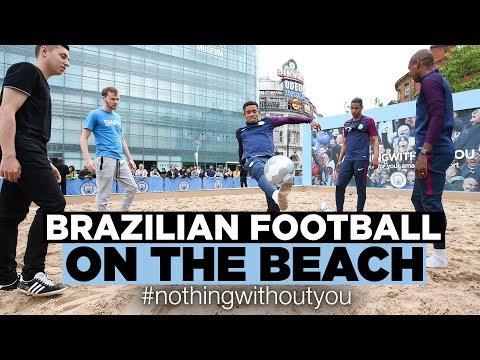 GABRIEL JESUS BEACH FREESTYLE! | Brazilian Beach Football | #nothingwithoutyou