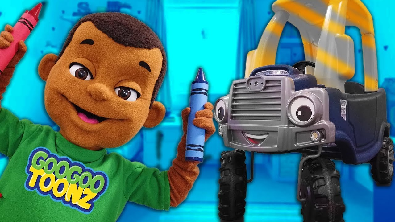 Car Lost His Color After Bumping Into Goo Goo Gaga! Story Time with Goo Goo Toonz