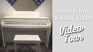 White Kawai CA49 Digital Piano Video Tour