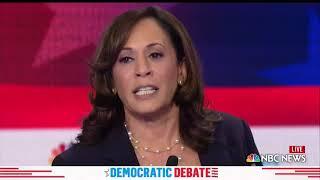 WATCH: Harris says Trump is the 'greatest national security threat' | 2019 Democratic Debates