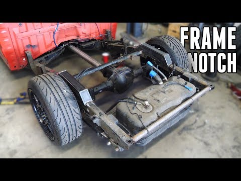 Notching the Frame on the Drift Truck! - 4 Link Suspension Pt. 1
