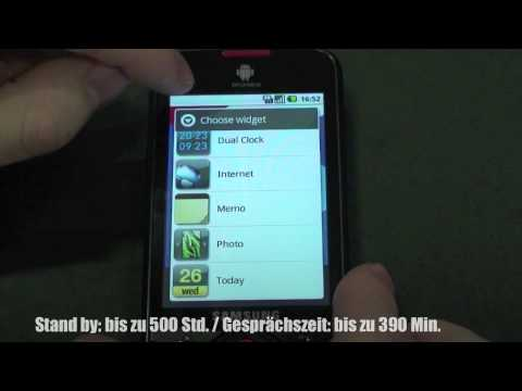 User Interface - Android (Samsung Galaxy Spica I5700)