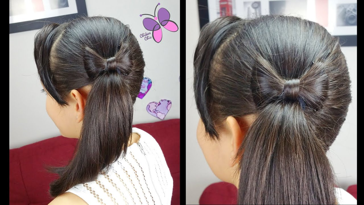 side ponytail and hair bow | quick and easy hairstyles