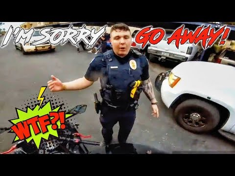 COOL & ANGRY COPS VS BIKERS | POLICE VS MOTORCYCLE