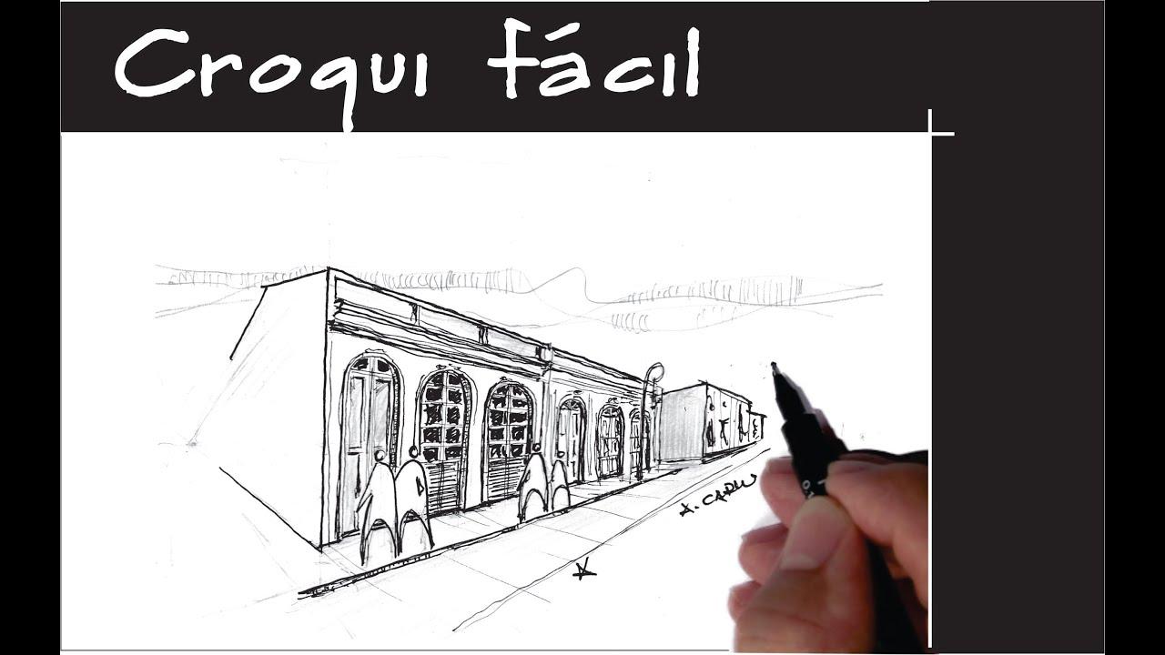 Suficiente Desenho à mão livre para arquitetura - YouTube AS14
