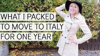 WHAT I PACKED TO MOVE TO ITALY FOR 1 YEAR! | MINIMALIST WARDROBE