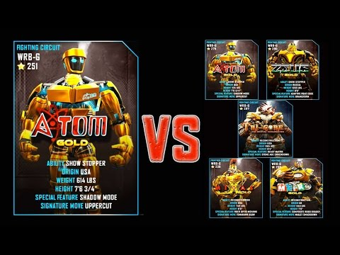 Real Steel WRB FINAL Atom Gold Series of fights GOLD NEW ROB