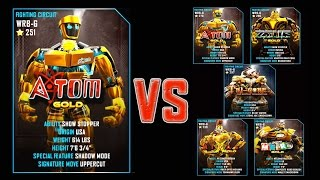 Real Steel WRB FINAL Atom Gold Series of fights GOLD NEW ROBOT (Живая Сталь)