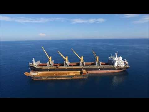 Ship Off The Coast Of Palawan
