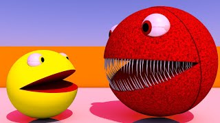 Red Monster Pacman Vs Pacman