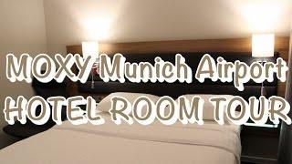MOXY Munich Airport HOTEL ROOM TOUR   Joy Della Vita Travelblog