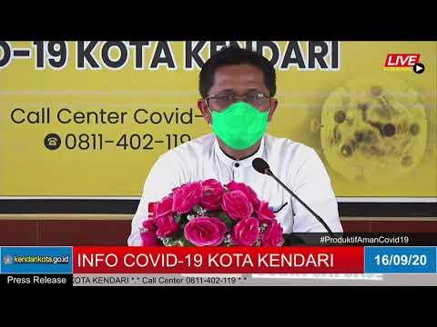 Release Data Medis Covid-19 Kota Kendari - Rabu, 16 September 2020