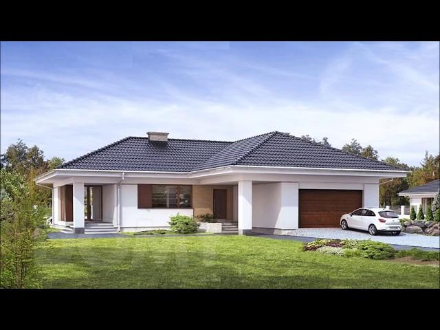 Projekt domu parterowego AMBROZJA 3 pow.158m2 Budowa i Aran?acja