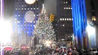 Rockefeller Center Christmas tree lighting 2009