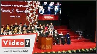 """وزير التعليم العالى: رئيس الجامعة الأمريكية بالقاهرة """"قيادة محبوبة"""""""