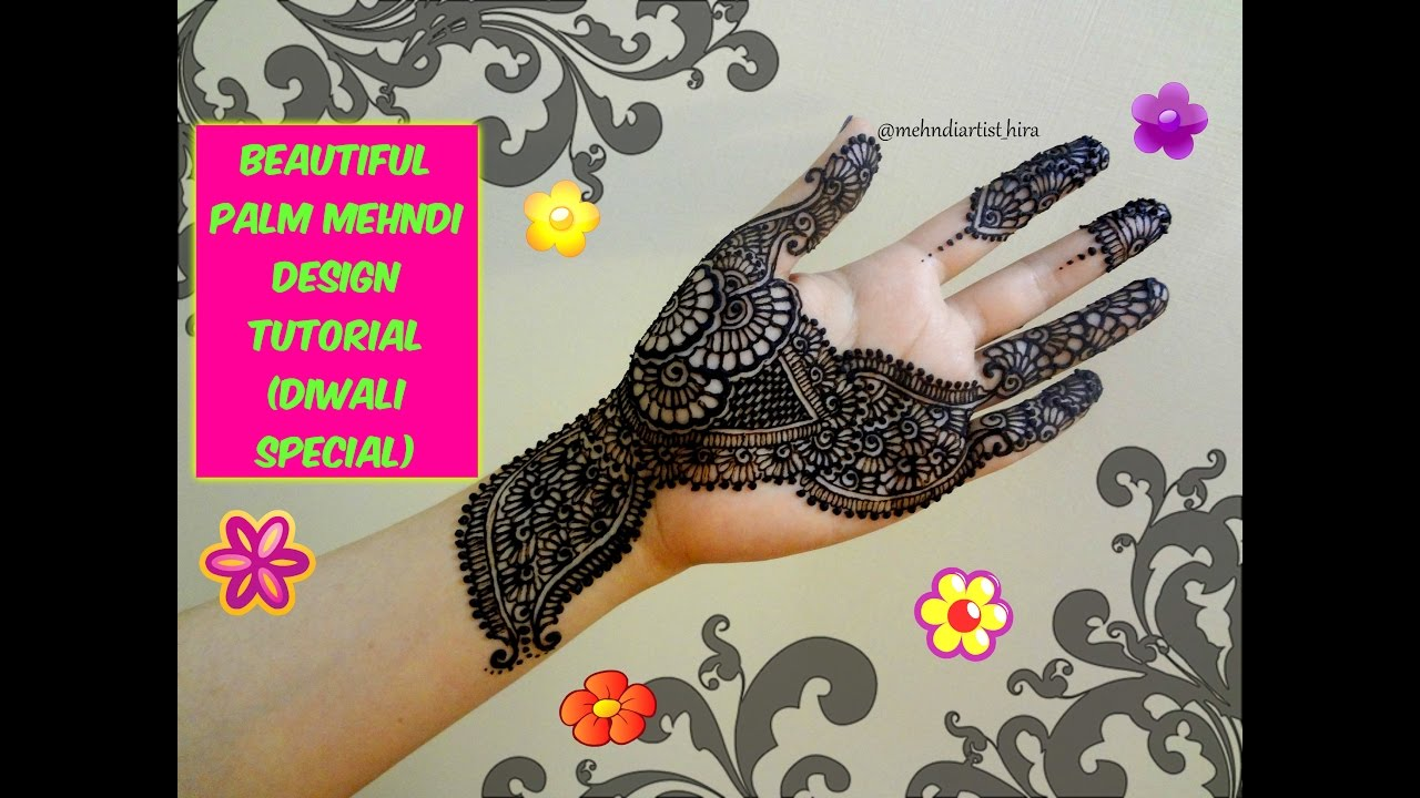 Designs Of Mehndi For Palm : How to apply easy simple palm mehndi designs for hands eid