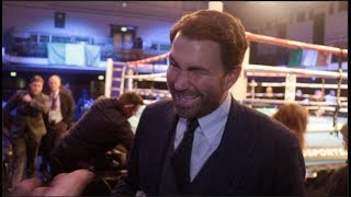 EDDIE HEARN REACTS TO TYSON FURY UKAD SITUATION, TONY BELLEW v HAYE, KATIE TAYLOR & CONOR BENN