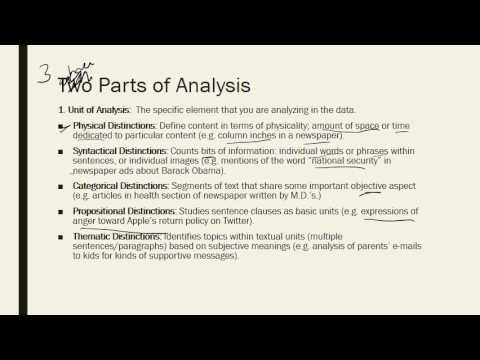 Comm Research Methods - Content Analysis