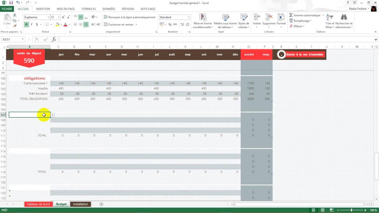 Gut bekannt Model Excel de Budget - YouTube MH27