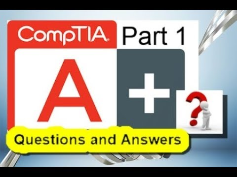 Comptia A Certification Practice Test Exam 220 901 Part 1 Youtube
