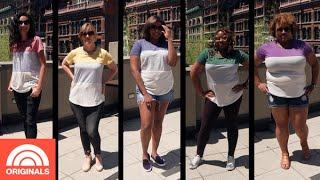 5 Women Try-On $15 Popular Tee in Different Sizes   TODAY