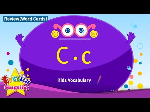 Kids vocabulary compilation - Words starting with C, c - Word cards - review