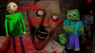 - Monster School BALDI S BASICS VS GRANNY CHALLENGE Minecraft Animation