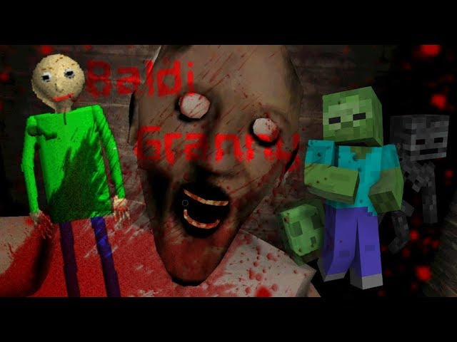 Monster School : BALDI'S BASICS VS GRANNY CHALLENGE - Minecraft Animation