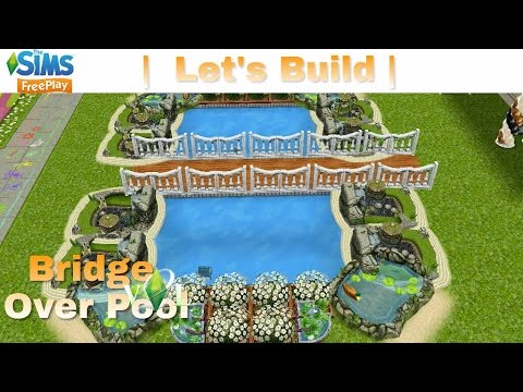The sims freeplay let 39 s build bridge over pool for Pool design sims 3