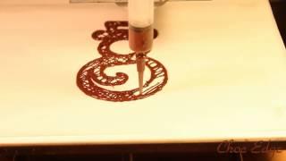 Choc Edge Printing a Snowman using 3D chocolate printer