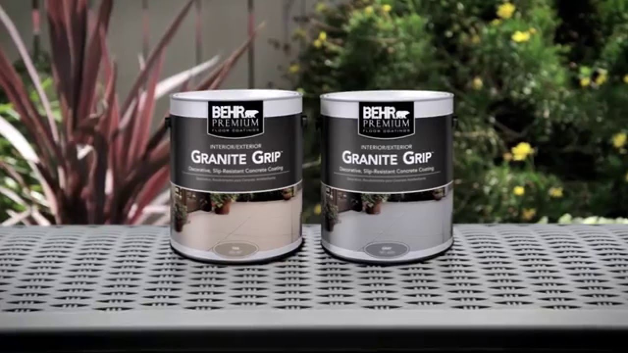 How To Apply Behr Premium 174 Granite Grip Youtube