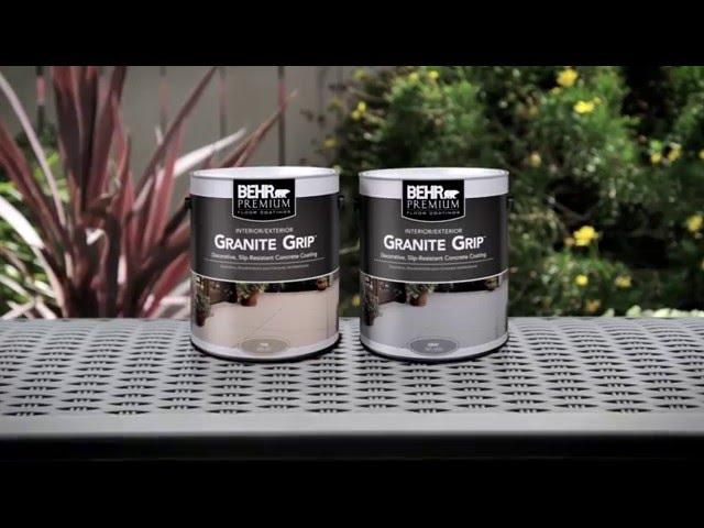 How-To: Apply BEHR PREMIUM® Granite Grip™
