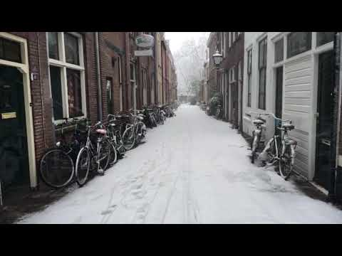 Student's Life: Winter in Leiden, Netherlands.