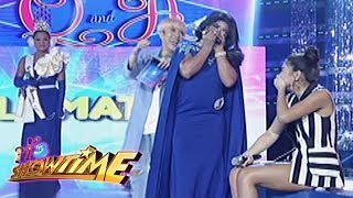It's Showtime Miss Q & A: Nadine laughs out loud